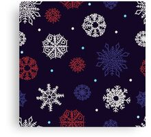 Beautiful snowflakes seamless ornament Canvas Print