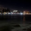 Manly beach at night by miroslava