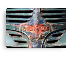 Rusty Dodge Truck Graphic Shirt Canvas Print
