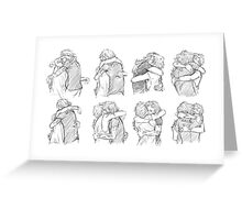 Best Hug Greeting Card