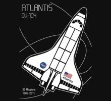 Space Shuttle Atlantis by Samuel Sheats