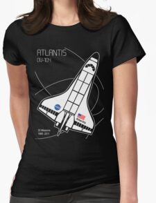 Space Shuttle Atlantis Womens Fitted T-Shirt