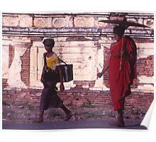 Burma Umbrella Poster