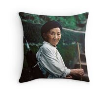 Chinese Minority Woman Throw Pillow