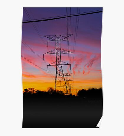 Telephone Lines Poster
