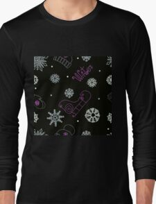 Beautiful winter seamless ornament  Long Sleeve T-Shirt