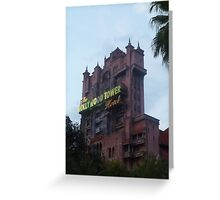 Hollywood Tower Hotel (Tower of Terror) Greeting Card