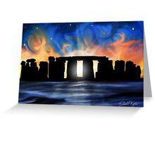 Solstice at Stonehenge Greeting Card