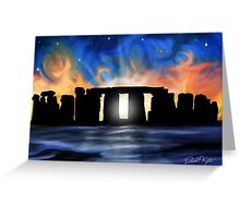 Solstice at Stonehenge Greeting Card