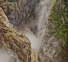 Magnificent thundering waterfall by hereswendy