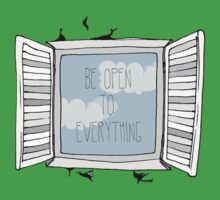be open to everything grey Baby Tee