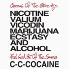 QUEENS OF THE STONE AGE feel good hit of the summer lyrics tee COCAINE  by DanFooFighter