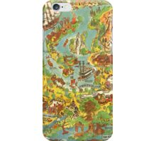 Vintage Disneyland Map iPhone Case/Skin
