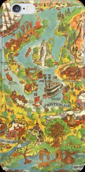Vintage Disneyland Map by tylersmithh