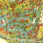 Vintage Disneyland Map Adventureland by tylersmithh