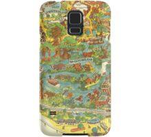 Vintage Disneyland Map Adventureland Samsung Galaxy Case/Skin