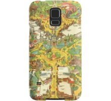 Vintage Disneyland Map Main Street USA Samsung Galaxy Case/Skin