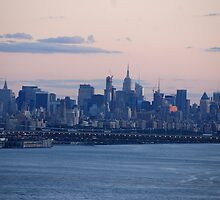 Manhattan Sunset by John Schneider