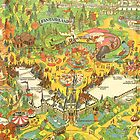 Vintage Disneyland Map Fantasyland by tylersmithh