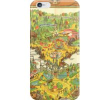 Vintage Disneyland Map Fantasyland iPhone Case/Skin