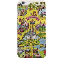 Vintage Walt Disney World Map Fantasyland 1971 iPhone Case/Skin