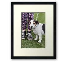 cute dog with baby Framed Print
