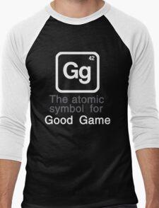 Gg - The atomic symbol for 'Good Game' Men's Baseball ¾ T-Shirt