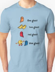 One Ghost, Two Ghost, Red Ghost, Blue Ghost T-Shirt