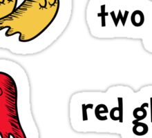 One Ghost, Two Ghost, Red Ghost, Blue Ghost Sticker