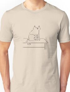Tablecat Black Unisex T-Shirt