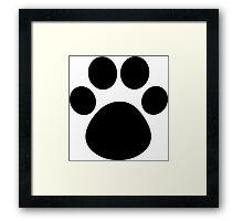 Cat Paw Framed Print