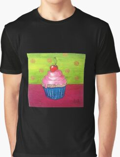 Cupcake Paint, Cherry Cupcake Graphic T-Shirt