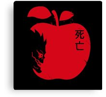 Death Note Apple Canvas Print