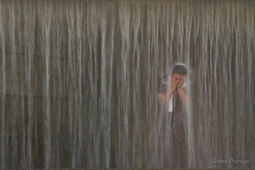 Shower, Seoul, Korea by Gabor Pozsgai