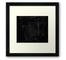 tough cyclist Framed Print