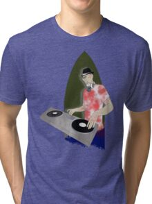 zombie DJ Tri-blend T-Shirt