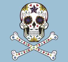 Sugar Skull & Crossbones Kids Clothes