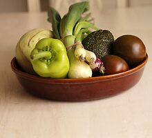 Vegetables on a white Table by brijo