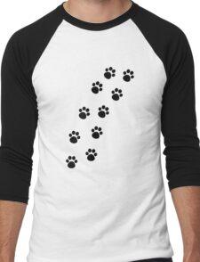 Cat Paw Track Men's Baseball ¾ T-Shirt