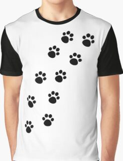 Cat Paw Track Graphic T-Shirt