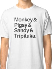Monkey & Pigsy & Sandy & Tripitaka Classic T-Shirt