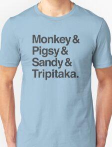 Monkey & Pigsy & Sandy & Tripitaka Unisex T-Shirt