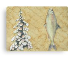 Trout, Pine, Scale Canvas Print