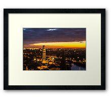 Sunset in Verona Framed Print
