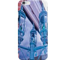 INTENSE BLUE LAMPS iPhone Case/Skin