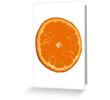 Graphic Orange Greeting Card