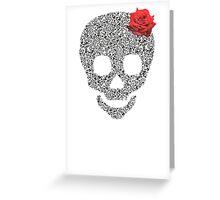 Skull rose Greeting Card