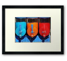 Colours And Cool Framed Print