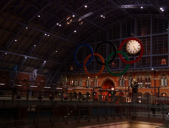 Olympic Rings At St. Pancras International by Themis