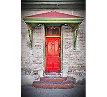 Tucson red door Photographic Print
